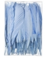 Blauwe sier veren 100 stuks13 cm