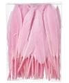 Roze sier veren 100 stuks13 cm