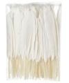 Witte sier veren 100 stuks13 cm