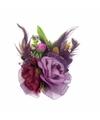 Haarbloemen met clipspeld paars