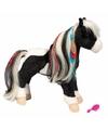 Indianen paarden knuffel met kam 30 cm